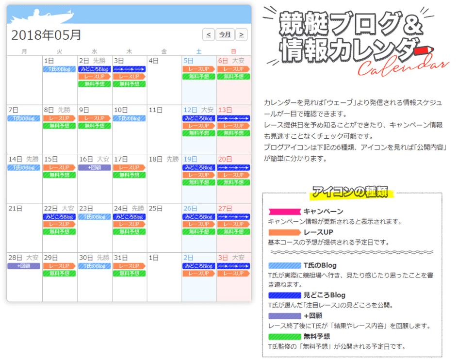 競艇ブログ情報カレンダー
