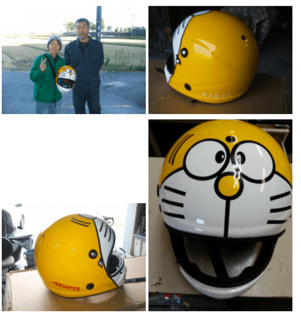 ドラえもんヘルメット 黄色