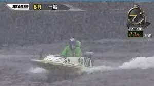 大雪になった場合はボートレーサーのヘルメットに雪が付着し視界が極端に悪くなるので中止