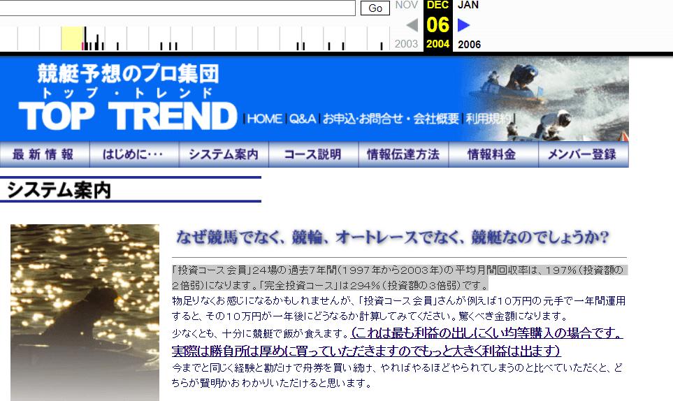 2004年12月6日 トップトレンド