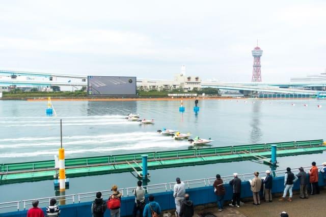 江戸川競艇競争水面 ターンマーク
