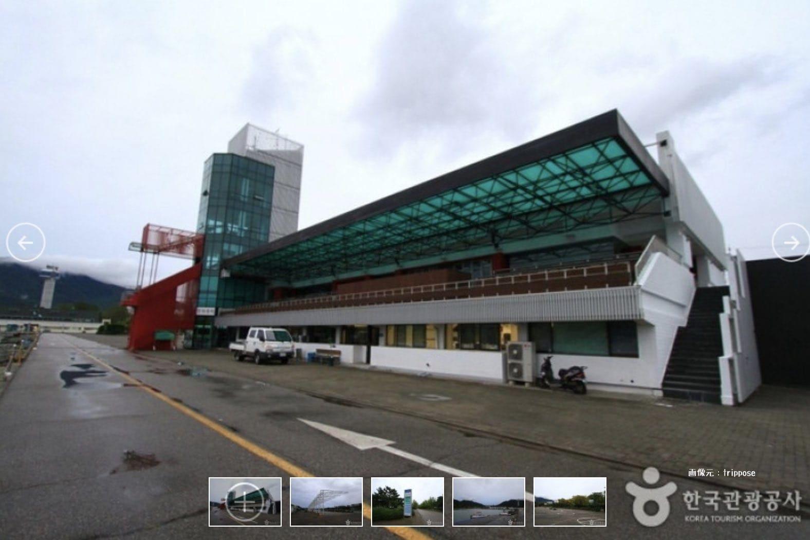 韓国唯一の競艇場 ミ沙里漕艇競技場