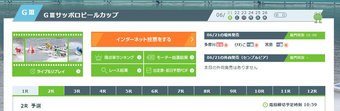 尼崎競艇場の公式予想の見かた