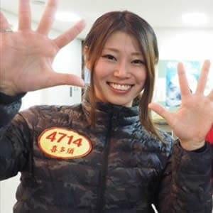 徳島県出身の喜多須杏奈選手
