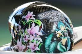 天国の妹と一緒に戦うゆりの花ヘルメット