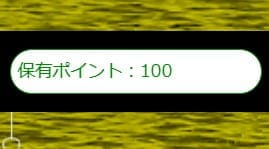 100ポイント 加算
