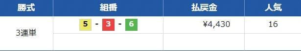 競艇ブルの無料予想を検証1レース目2020年10月1日戸田8R結果