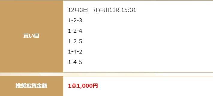 2020年12月3日江戸川11R